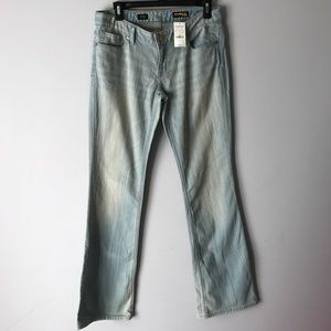 NWT EXPRESS Stella Bootcut Jeans light  distressed